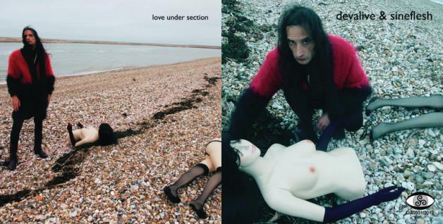 """cover of Love Under Section 7"""" single Pagham Beach shot"""