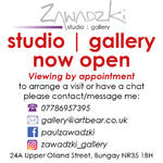 promotional notice for social media announcing opening of gallery